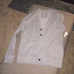 Size medium light gray cardigan from the Gap NWT